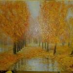 Картина Осенние лужи