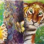 Амурский тигр, холст, акрил, 30х40