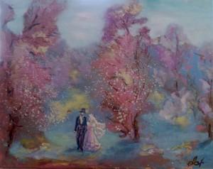 Картина Романтика, холст, масло 40х50. В частной коллекции
