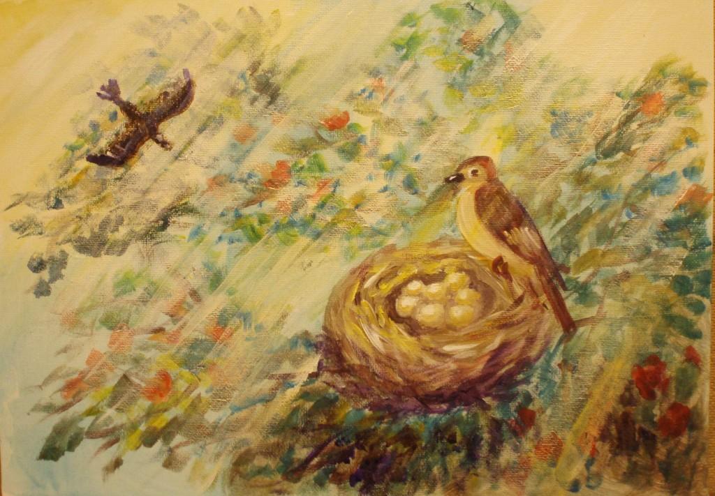 видеоурок Гнездо с яйцами для создания семьи