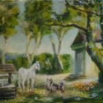 Живопись картина Белая лошадь