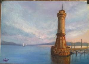 маяк рисуем