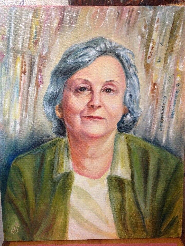 Портрет Ольги, холст, масло, 40х50