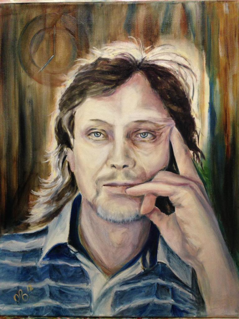 Портрет мужской, масло, холст 40х50