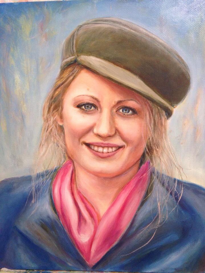 Портрет Натальи, масло, холст 40х50