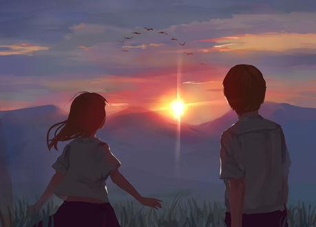 дети и солнце